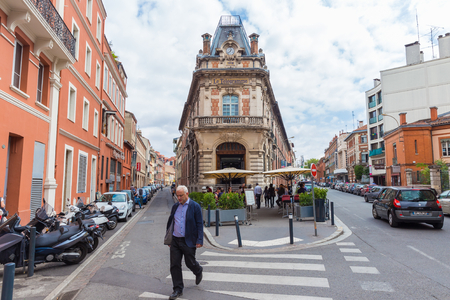 refurbishment: TOULOUSE, FRANCE - JULY 22, 2014: Le Telegramme is a mythical building in Toulouse, built in 1912. It houses a restaurant re-opened in October 2012 after a two year refurbishment.