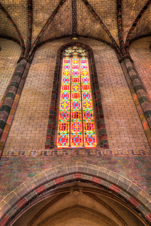 glasswork: Coloured glass in the Church of the Jacobins in Toulouse Editorial