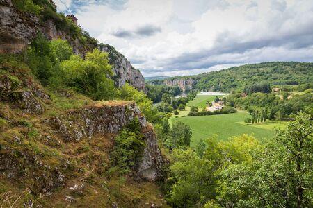 parc naturel: Lot River and the valley at Saint Circ Lapopie