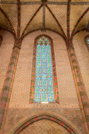 glasswork: Stained glass in the Church of the Jacobins in Toulouse