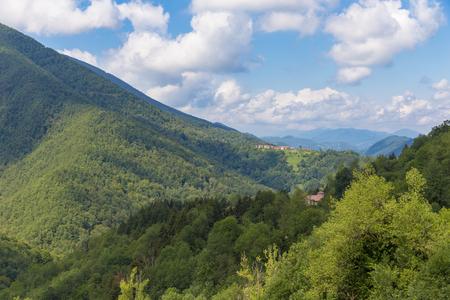 foothill: Parc naturel regional des Pyrenees ariegeoises at Riverenert France