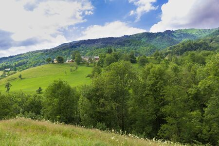 foothill: Rolling hills in the Pyrenees in Boussenac