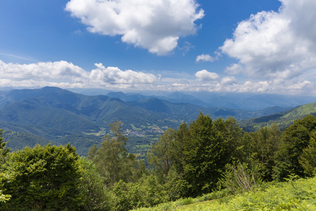 foothill: Valley at the Pyrenees in Boussenac in France