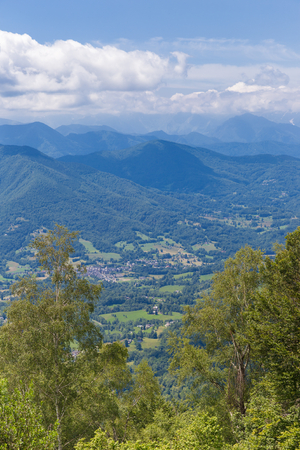 foothill: Valley in the Pyrenees in Boussenac in France