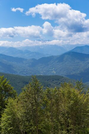 parc naturel: View of the Pyrenees at Biert