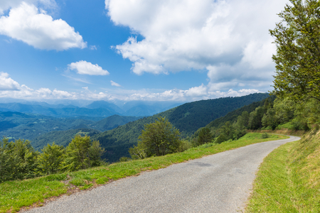 foothill: Winding road D188 in the Pyrenees