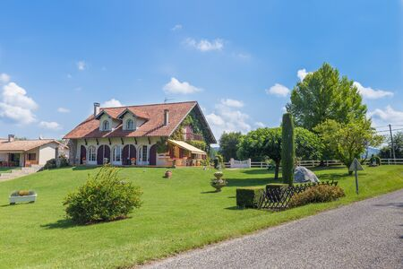 Big Frenh country house with large garden