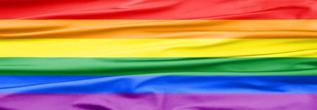 Soft Velvet Piece of Fabric banner in rainbow kleur om te worden gebruikt als achtergrond of overlay Stockfoto