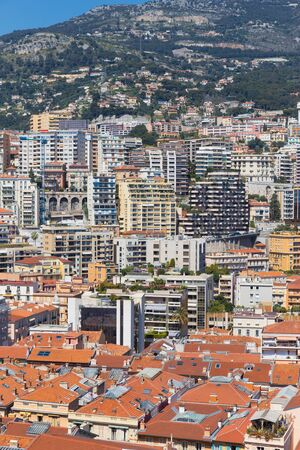 Close up view of the city of Monte Carlo in France