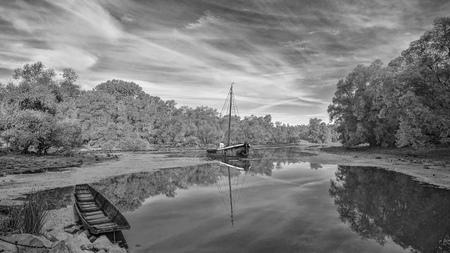 Historical Eel Fishing Boat Aalschokker Heini Stock Photo