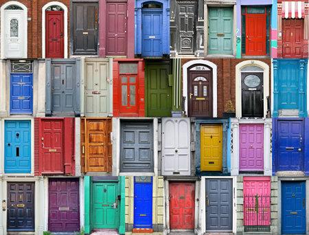 Doors of Dublin, Ireland Foto de archivo