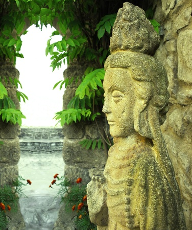 Indonesian statues of goddess in a temple Stock Photo - 10727829