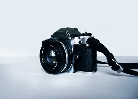 Historical analog camera reflex of the seventies