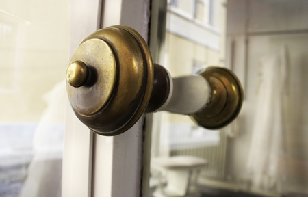Detail of a round bass handle door Stock Photo - 10740006