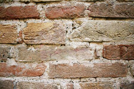 medioeval: Detail of a medioeval brick wall  Stock Photo