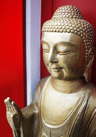 A beautiful golden statue of Buddha Stock Photo - 11847729