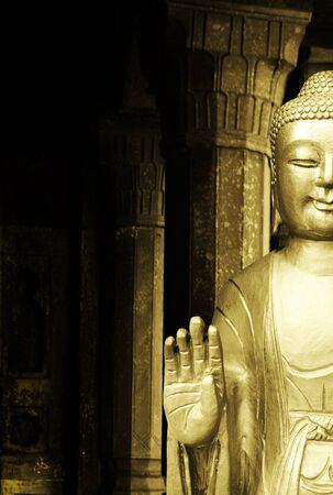 Buddha statue in a Temple as a background Stock Photo - 12009204
