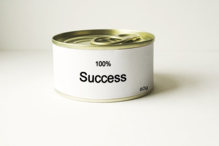 Photo detail of a can with the word Success Stock Photo - 12177584