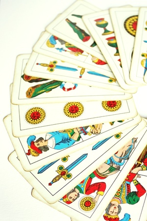 Photo of vintage Trump Cards put into semicircle