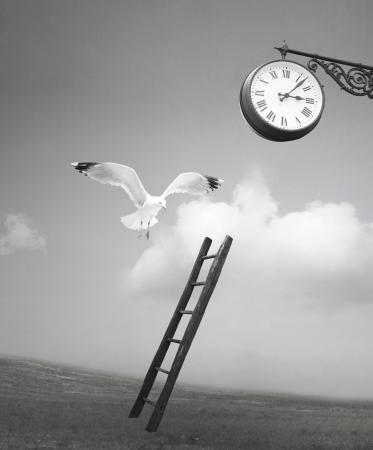 Abstracte fantasie surrealistische verbeelding zwart-wit foto Stockfoto