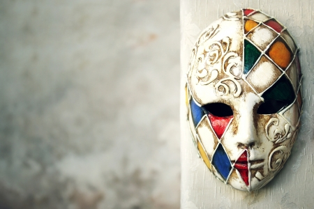 Beautiful elegant venetian mask  Stock Photo