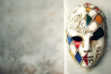 antifaz de carnaval: Hermosa máscara veneciana elegante Foto de archivo