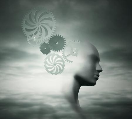 psyche: Fondo Fantasy representar la complejidad de la mente humana Foto de archivo