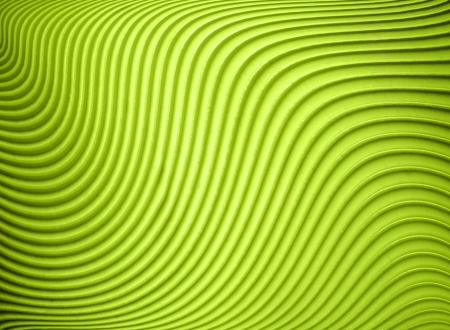 Detail of wavy lines of acid green texture background Stock Photo
