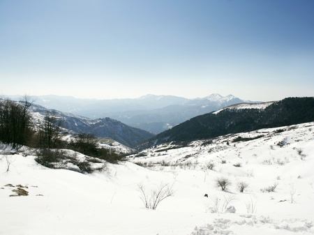 Beautiful snowy range in the sunlight Stock Photo - 17857770
