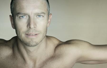 Portrait of sexy muscular man
