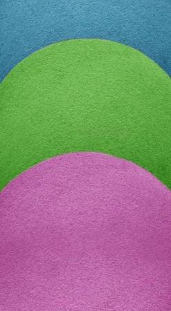 semicircular: Abstract background of decorative semicircular shapes of vivid shades