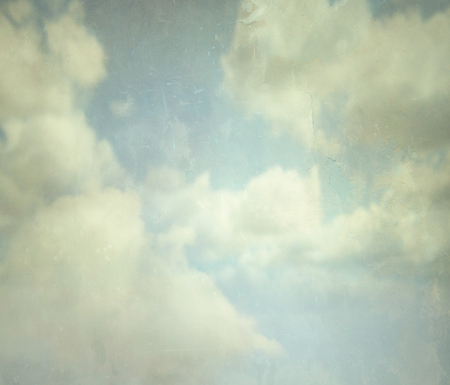 free vintage background: Beautiful abstract background detail of clouds in a vintage style