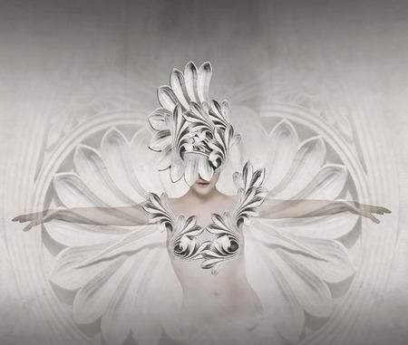 Beautiful artistic image representing a female like a sculpture