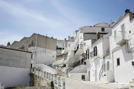 glimpse: Glimpse of the beautiful town of Monte SantAngelo, Apulia, Italy