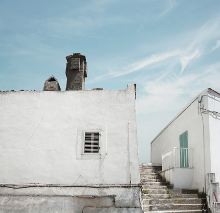 Glimpse of the beautiful town of Monte SantAngelo, Apulia, Italy