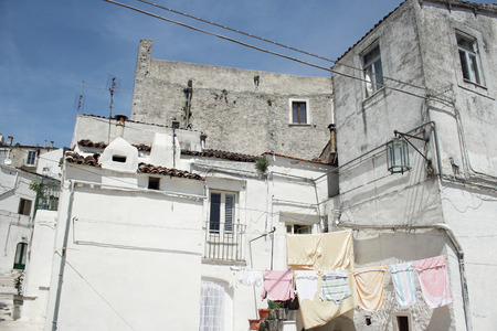 Glimpse of the beautiful town of Monte SantAngelo, Puglia, Italy