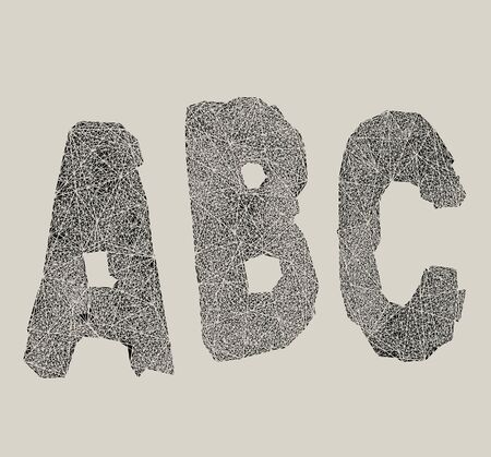 writing a letter: Graphic of the capital letters ABC
