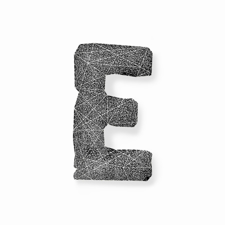uniqueness: Graphic of the capital letters E isolated on white background Stock Photo