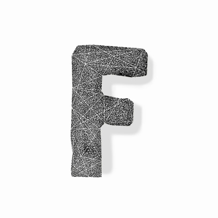 Graphic of the capital letter F isolated on white background
