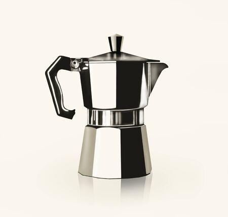 Künstlerische Bild darstellt, eine Zeichnung eines italienischen Kaffeekanne