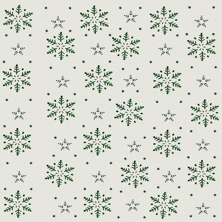 Snowflakes and Stars Christmas and New Year's Background