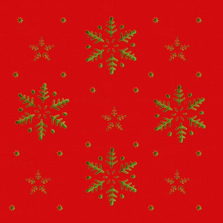 Snowflakes and Stars in Christmas Background 免版税图像