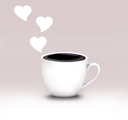 Close up of a Dark Chocolate Cup with three heart shape
