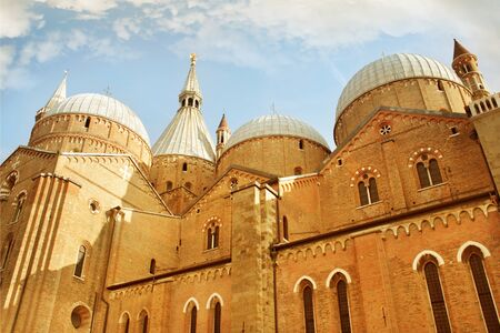 Exterior detail of Basilica Church of Saint Anthony of Padua, Italy