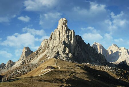 Beautiful and view of Dolomites Alps Italy in Autumn
