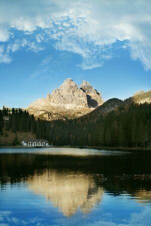 Beautiful Lake Misurina in the background Tre Cime di Lavaredo, Dolomites, Italy