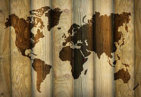 Shadow of a world map 免版税图像