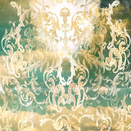Artistic Background a vintage collage in baroque style  免版税图像