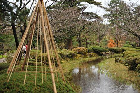 circumference: Kenrokuen Garden and Circumference of Kanazawa Castle Park Stock Photo