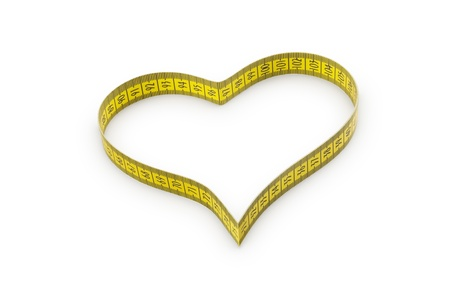 made to measure: Heart made of tape measure